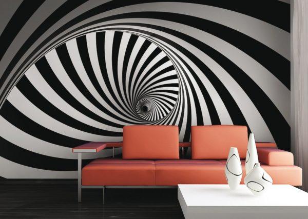 Геометрические иллюзии в интерьере