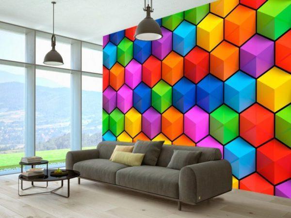Геометрический рисунок для стен