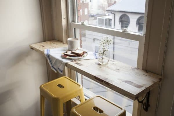 Подоконник барная стойка на кухне