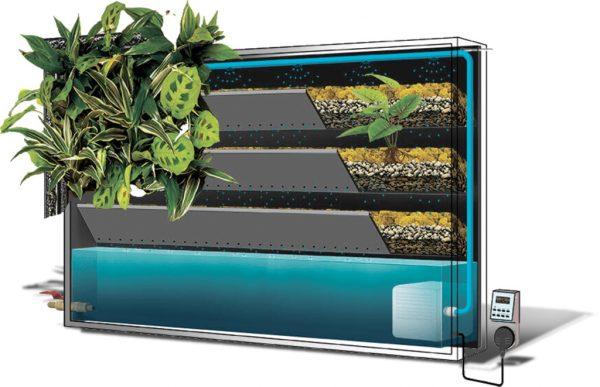 Контейнерная система вертикального озеленения