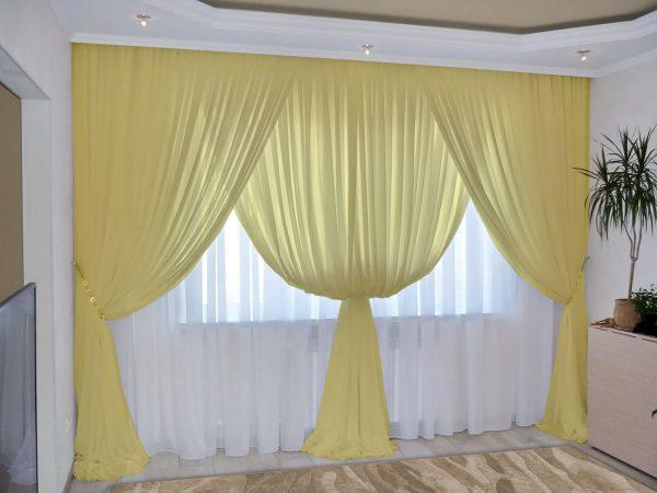 Легкие шторы из вуали