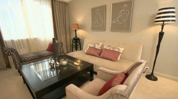 Столичная квартира Гузеевой гостиная