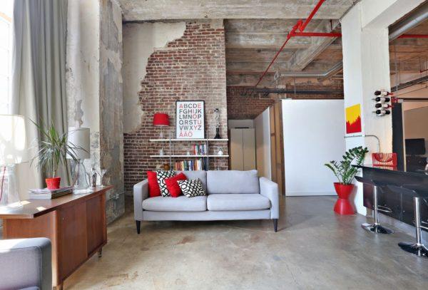 Оформление гостиной в стиле Лофт