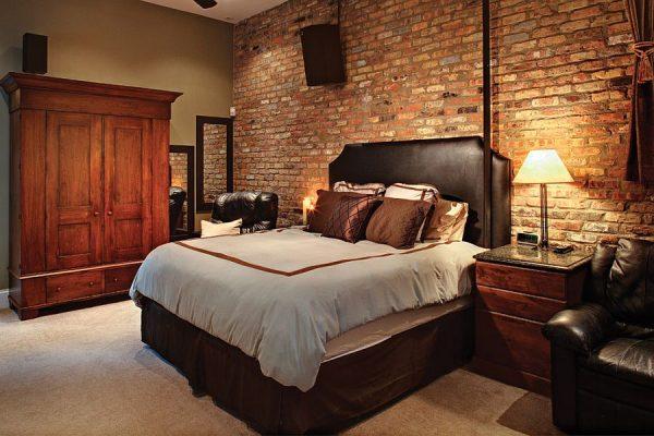 Оригинальное оформление спальной комнаты