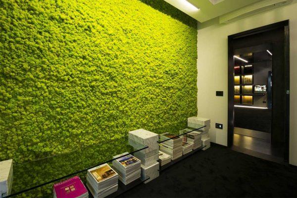 Озеленение стен мхом