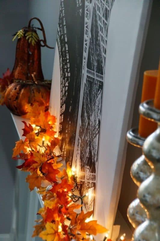 Лестница для осеннего декора