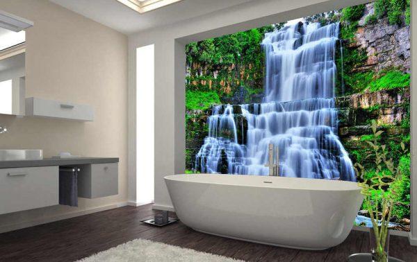 Рисунок с водопадом в ванной комнате