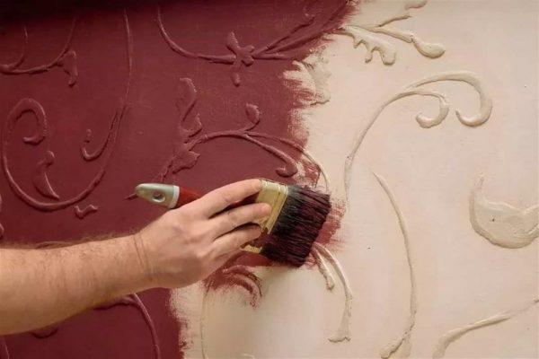 Краска для росписи для декоративной штукатурки