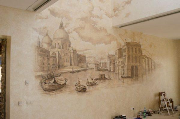 Декоративная штукатурка фреска