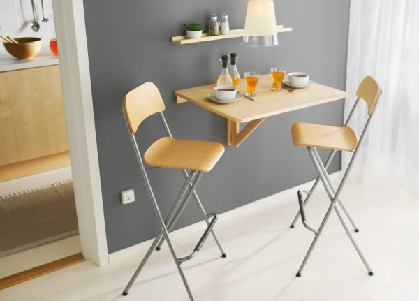 Складные барные стулья со спинкой