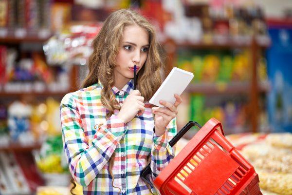Совершение покупок по списку