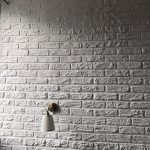 Стена оштукатуренная под кирпич