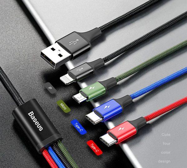 Универсальный зарядный кабель с разъемами различного типа