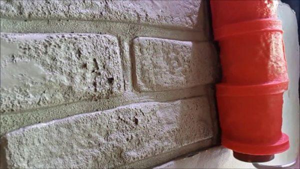 Валик имитирующий кирпичную кладку