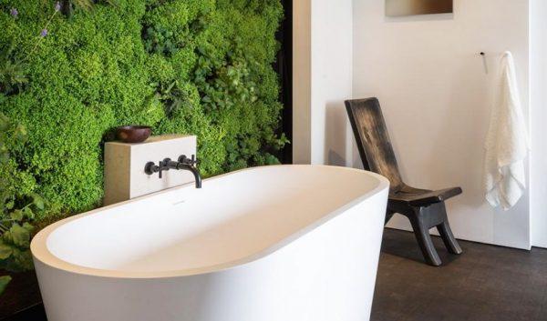 Ванная комната с вертикальным озеленением