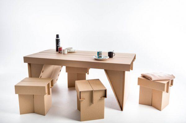 Временная мебель из картона