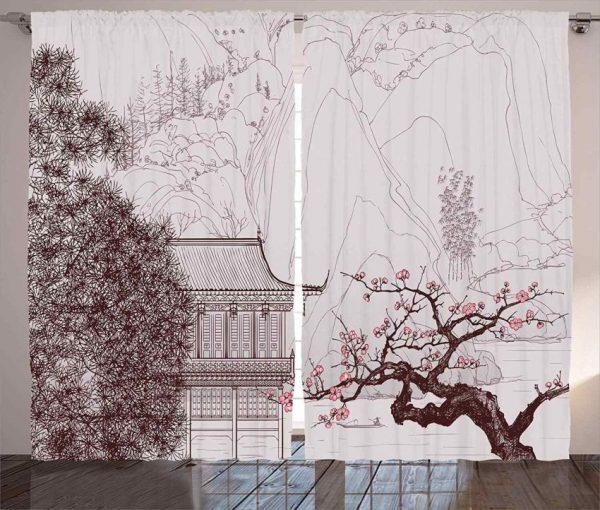 Шторы с рисунком Сакура