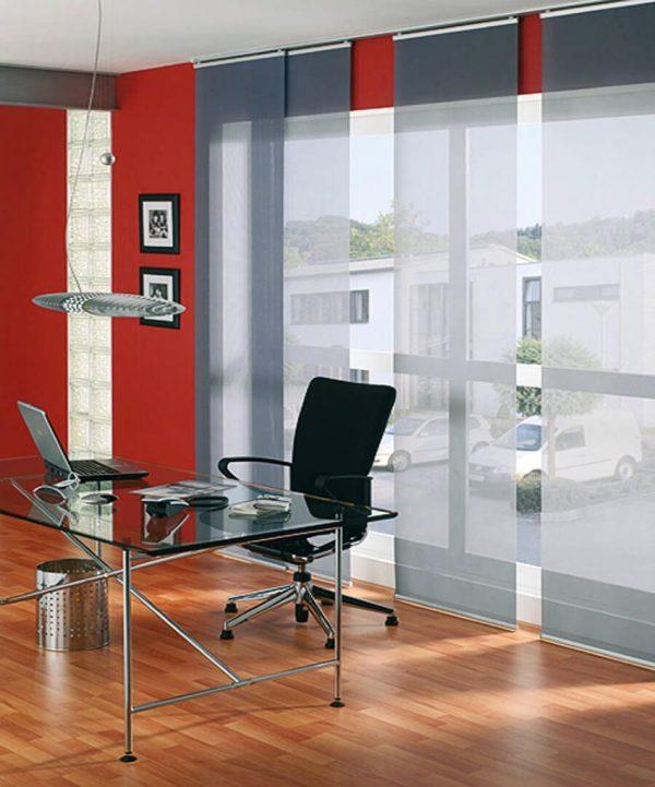 Японские шторы в офисе
