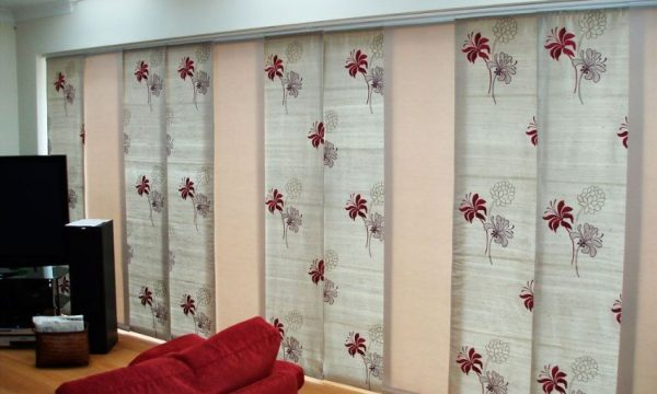 Панельные шторы японские