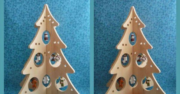 Новогодняя елка из фанеры экоель