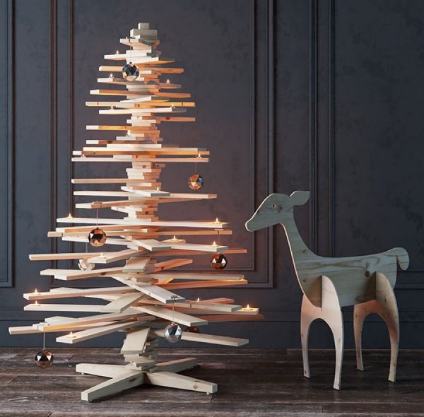 Деревянная 3D-елка