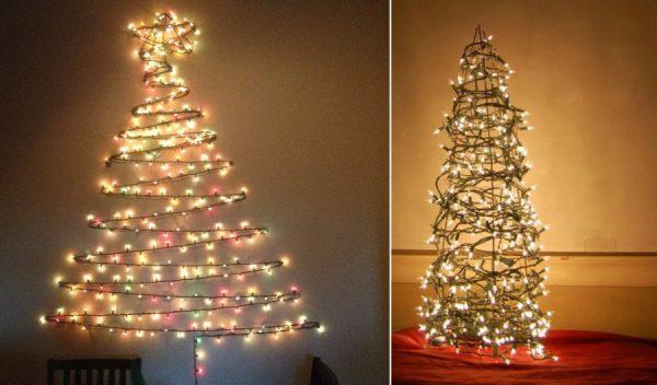 Новогодняя елка из светодиодной гирлянды