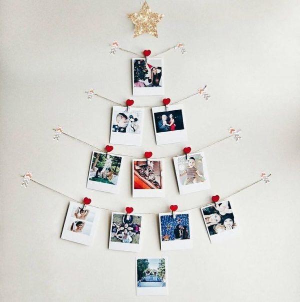 Новогодняя елка из семейных фотографий