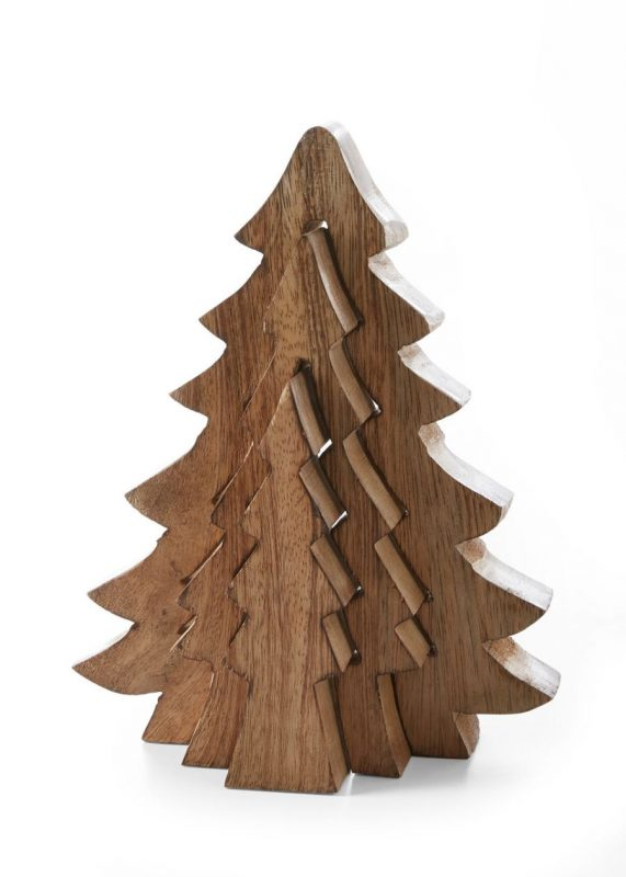 Деревянная 3D-конструкция елка