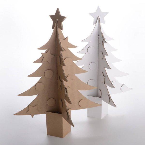 Новогодняя елка из плотного переплетного картона