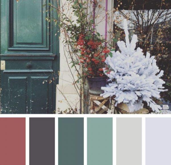 Зимняя цветовая палитра