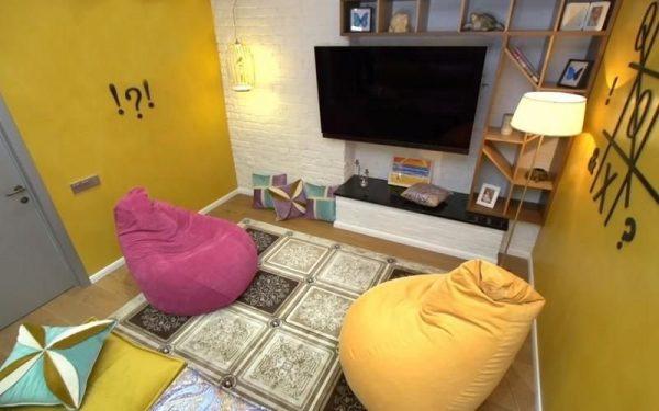 Интерьер игровой части для детей в квартире Екатерины Климовой