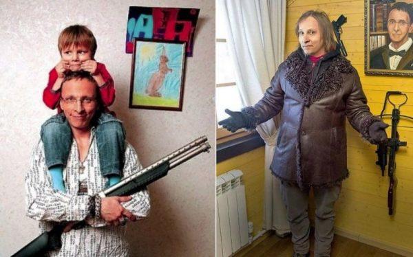 Иван Охлобыстин с оружием
