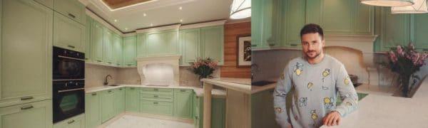 Барная стойка в интерьере кухни Сергея Лазарева