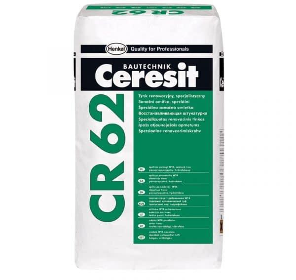 Гидрофобная санирующая штукатурная смесь Ceresit CR 62