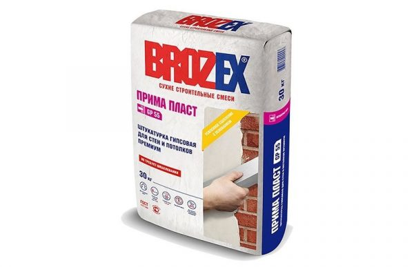 Гипсовая минеральная смесь Брозекс для стен и потолков