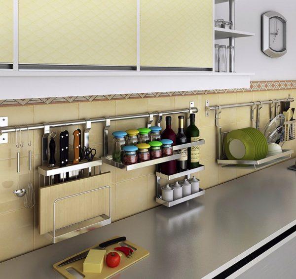 Подвесные полки для кухни