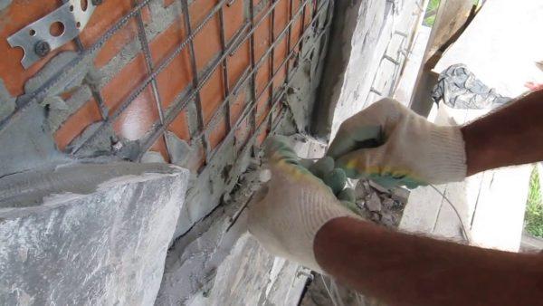 Металлическая сетка для оштукатуривания цоколя