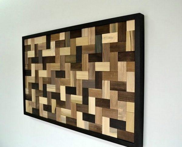 Мозаика из кусочков ламината