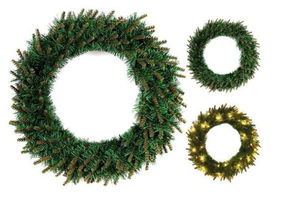 Рождественский венок из искусственной хвои