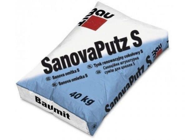 Санирующая штукатурная смесь SanovaPutz S