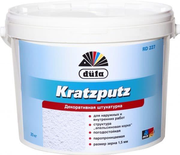 Штукатурка декоративная Dufa Kratzputz D227 фасадная