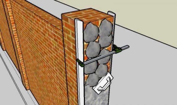 Технология оштукатуривания четырехгранных колонн