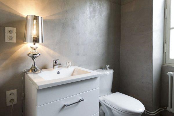 Штукатурка под бетон в ванной