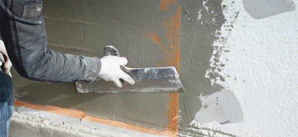 Штукатурка стен с полимерным полотном