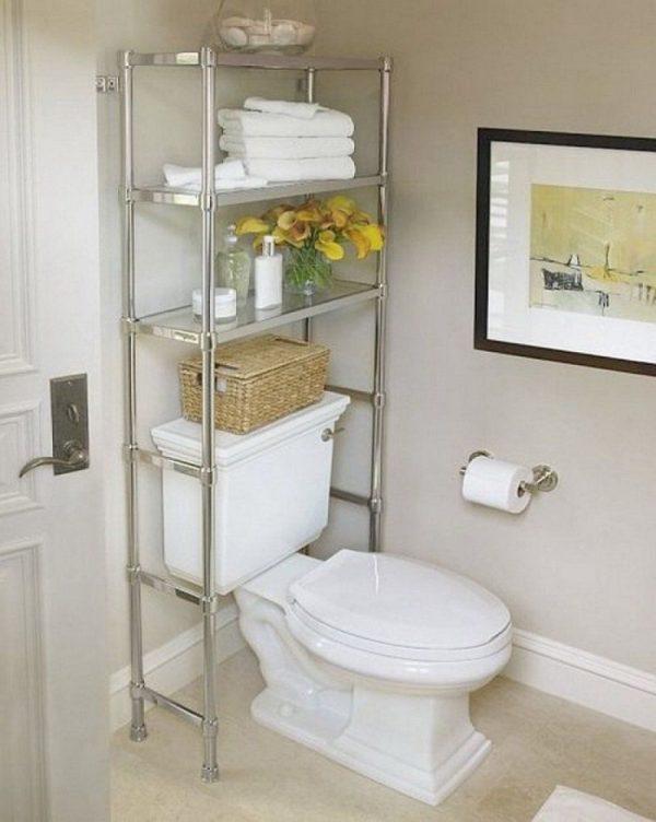 Стеллажи в ванную комнату над унитазом