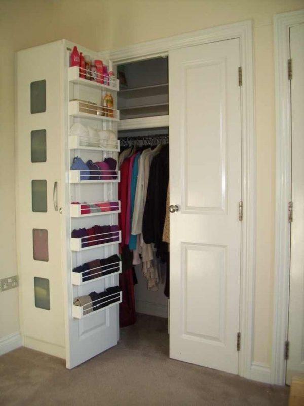 Системы хранения на дверцах шкафа
