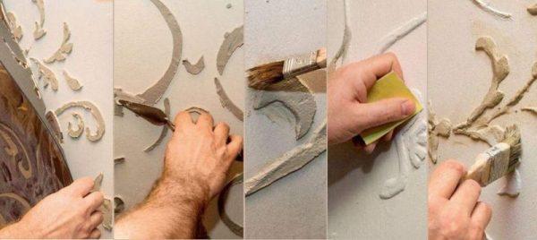 Трафареты для шпаклевки стен