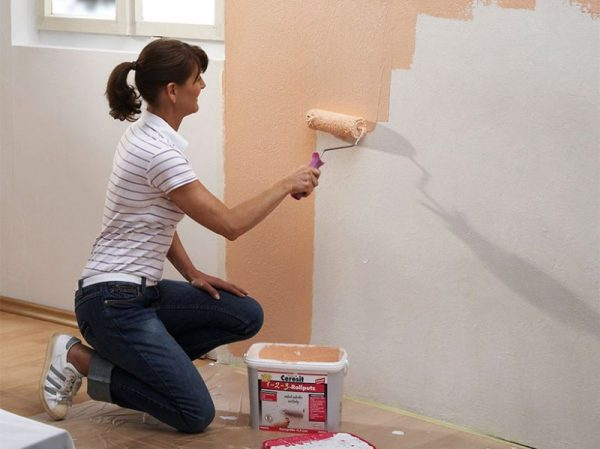 Акриловая краска для покраски стен