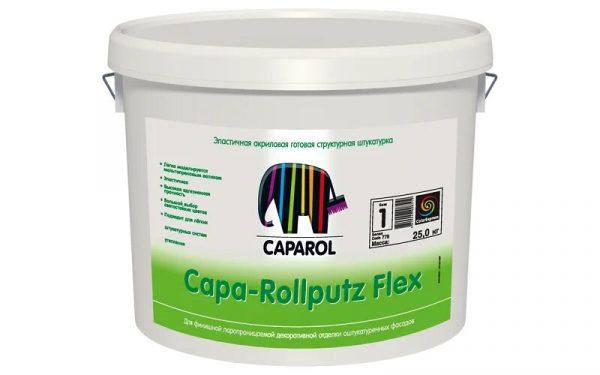 Защитно-отделочная штукатурка фасадная Capa-Rollputz Flex