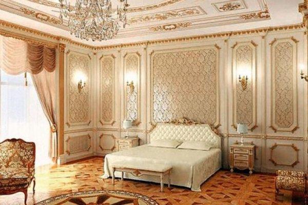 Интерьер спальни в квартире Распутиной в Киеве